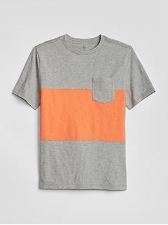 f201d231b6bf Kids Stripe Short Sleeve T-Shirt
