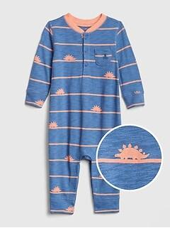 12377d05e Baby Print Henley One-Piece