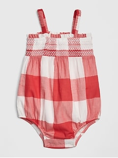 Baby Plaid Bubble One-Piece