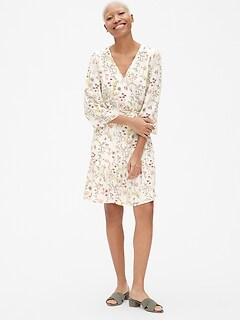 301d78e6031 Floral Print Wrap Dress