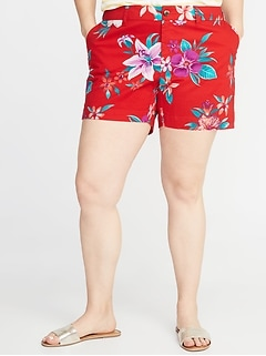 a1f06db0f Mid-Rise Printed Plus-Size Everyday Shorts - 5-Inch Inseam