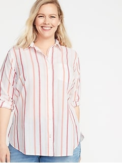 f3eb88b5 Women's Plus-Size Shirts & Blouses | Old Navy