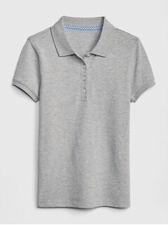 331017e7 Kids Uniform Stretch Short Sleeve Polo Shirt