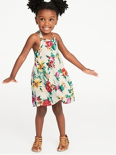 8f9b7272bb9a Printed Ruffle-Trim Halter Midi Dress for Toddler Girls