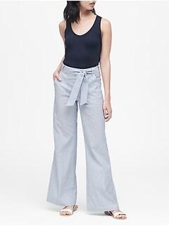 Women's Clothing Banana Republic Womens Size 14 Pants Martin Fit Lounge Linen Cotton Blend Cheap Sales
