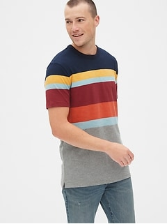 dff5970971eda3 Vintage Slub Jersey Stripe Crewneck T-Shirt