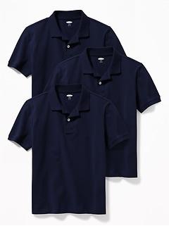 Oldnavy Built-In Flex Uniform Pique Polo 3-Pack for Boys Hot Deal