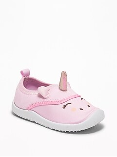 1e439a459d9ec Unicorn Critter Swim Shoes For Toddler Girls