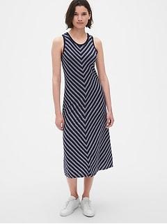 ab71fdde7de94 Soft Slub Tank Midi Dress