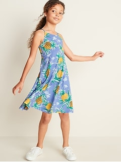 46ff7f1f19eb Printed Jersey Fit & Flare Cami Dress for Girls