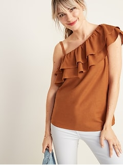 14a6fef7e5 Ruffle-Tiered One-Shoulder Top for Women