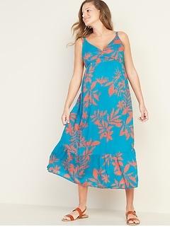 864969650f8f3 Maternity Sleeveless Wrap-Front Maxi Dress