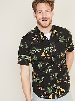 553e3196 Slim-Fit Built-In Flex Printed Everyday Shirt for Men