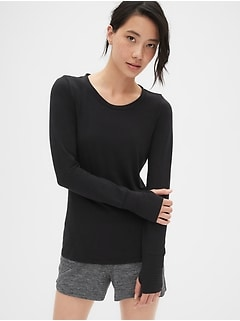 e8cc5693 GapFit Breathe Long Sleeve T-Shirt