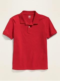 Oldnavy Uniform Stain-Resistant Built-In Flex Pique Polo for Boys Hot Deal