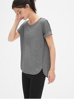 58f8268c GapFit Breathe Roll Sleeve T-Shirt