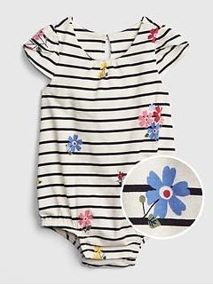 9bd9e51f9ffa1 Baby Tulip-Sleeve Bodysuit