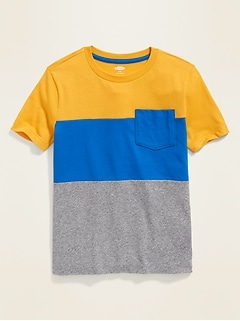 736d0ad03db Color-Blocked Pocket Tee for Boys
