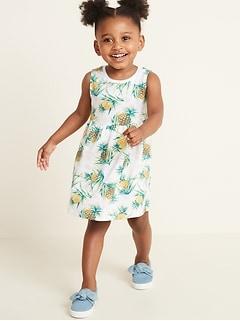 26119e638 Sleeveless Fit & Flare Dress for Toddler Girls