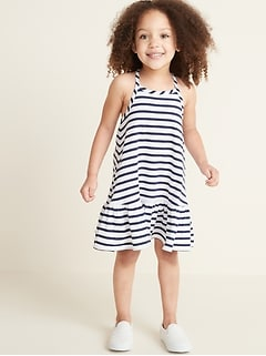 1ccaa9a35e Sleeveless Tiered Swing Dress for Toddler Girls