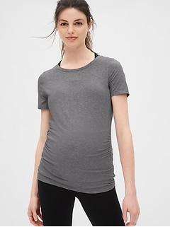 6f83798a82a6b Maternity GapFit Breathe Crewneck T-Shirt