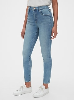 8f129bc8d35fe High Rise True Skinny Jeans with Secret Smoothing Pockets