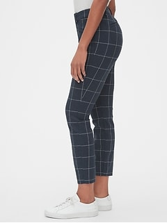 d661a8c6 Plaid Curvy Skinny Ankle Pants