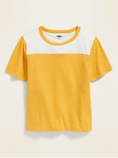 40c27abd3 Girls' Short Sleeve & T-shirts | Old Navy