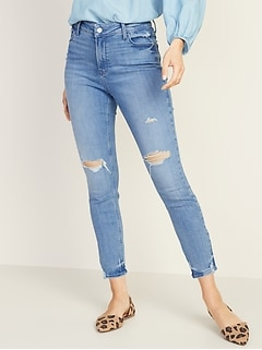 49373b9caed High-Rise Secret-Slim Pockets Distressed Rockstar Ankle Jeans for Women