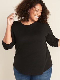 modern and elegant in fashion most fashionable terrific value Women's Plus-Size T-Shirts | Old Navy