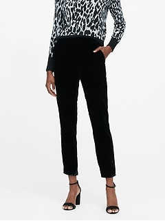 Hayden Tapered-Fit Velvet Ankle Pant