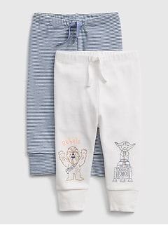 GAP Baby Boys 3-6 Months 2-Pack Navy Blue Cotton Favorite Knit Leggings Pants