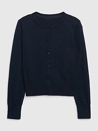 갭 키즈 여아용 가디건 GAP Kids Cardigan Sweater,soft ivory