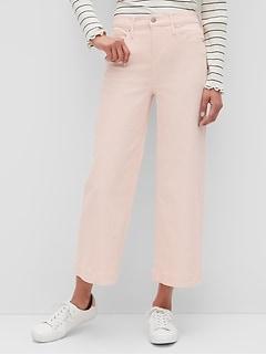 bananarepublic High-Rise Wide-Leg Color Crop Jean