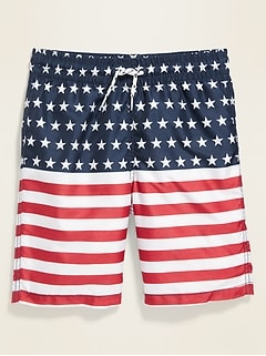 NEW Old Navy Boys 12-18 MONTH Swim Trunks NAVY Teal Bathing Suit Bottoms #21119