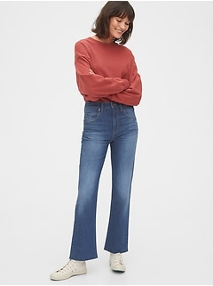 Gap High Rise Ankle Flare Jeans