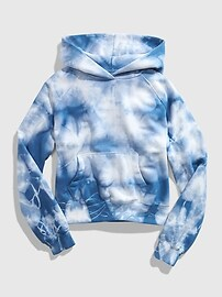 갭 GAP Teen Tie-Dye Hoodie,blue tie dye