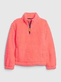 갭 GAP Kids Sherpa Sweatshirt,flurry white