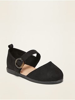 Oldnavy Faux-Suede Buckle-Strap Flats for Toddler Girls