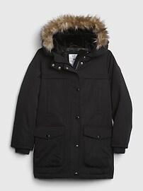 갭 GAP Kids BetterMade ColdControl Ultra Max Down Parka Jacket,true black