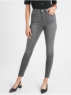 bananarepublic High-Rise Washed-Out Grey Skinny Jean
