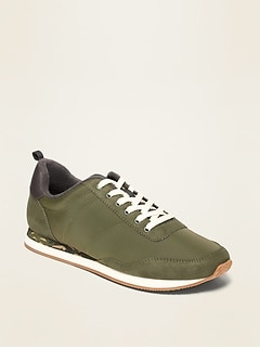 Oldnavy Nylon/Faux-Suede Track Sneakers for Men