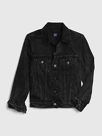 갭 GAP Kids Denim Icon Jacket,washed black