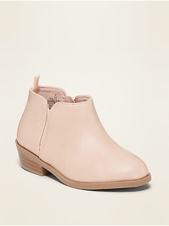 Oldnavy Faux-Leather Ankle Boots for Toddler Girls
