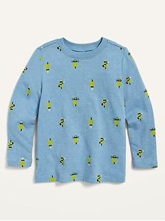 Oldnavy Long-Sleeve Printed Tee for Toddler Boys