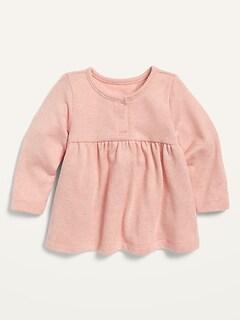 Oldnavy Unisex Cozy Plush-Knit Peplum-Hem Top for Baby