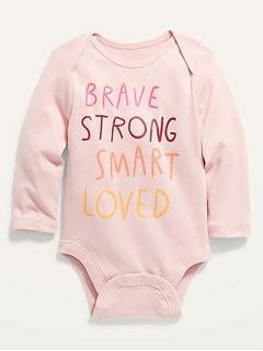 Oldnavy Unisex Graphic Long-Sleeve Bodysuit for Baby