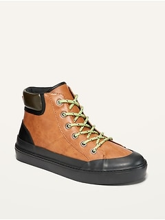 Oldnavy Faux-Leather High-Top Hiking Boots for Boys