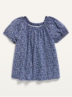 Oldnavy Floral Short-Sleeve A-Line Top for Toddler Girls