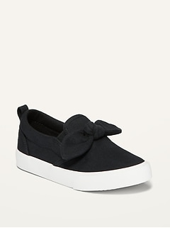 Oldnavy Unisex Canvas Bow-Tie Slip-Ons for Toddler